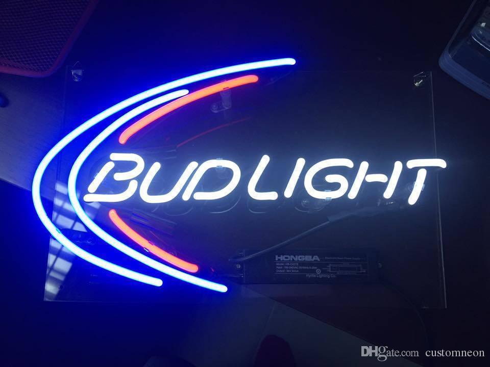 Plafoniere Neon Con Interruttore : Acquista bud light budweiser beer bar poster lampada neon