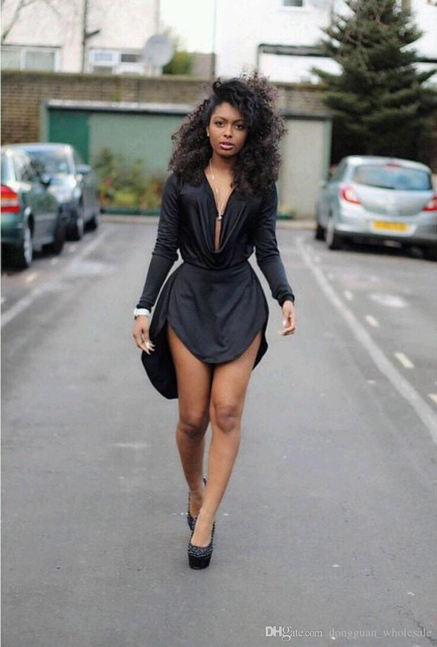 Vestido de verano de las mujeres 2017 estilo negro womens bodycon sexy vestidos fiesta club nocturno vestido de manga larga mujeres vestido casual ZF591