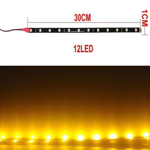 12V Car Motorcycle Bicycle Strip Lights 30CM 12SMD 5050 LED Car Trucks Motor Grill Flexible Waterproof Light Strips Bar LED Light Bulbs