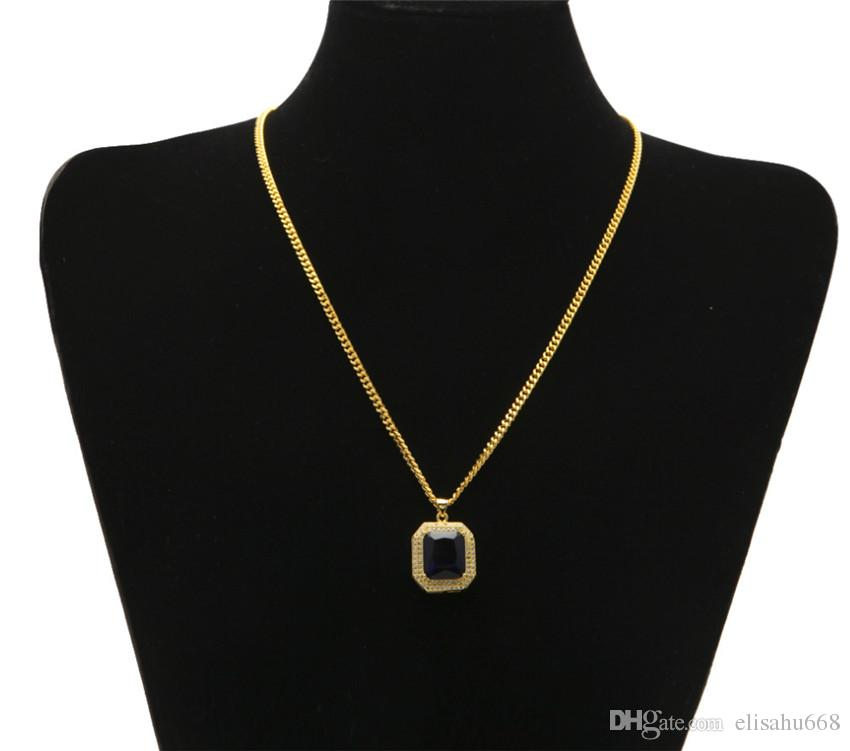 sapphire fashion black octagon pendant gemstone shaped necklace msp index store onyx