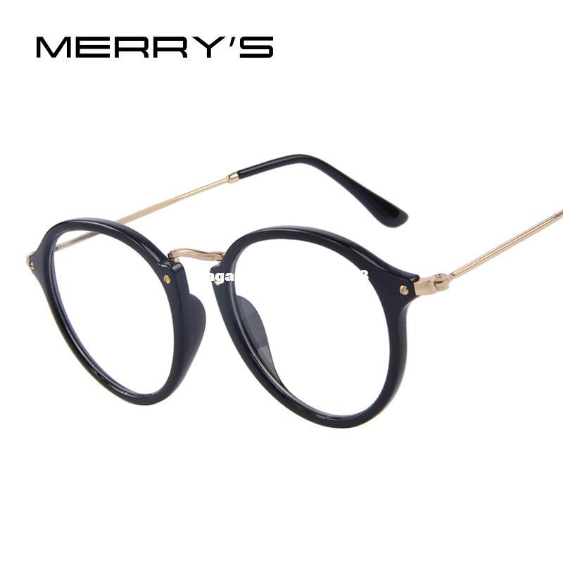 40fea249cb MERRY S Fashion Women Clear Lens Eyewear Unisex Retro Clear Glasses Oval  Frame Metal Temples Eyeglasses Round Glasses Designer Glasses From  Mymother003