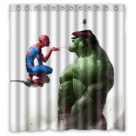 2019 Wholesale Custom Unique Design Cartoon Superhero Hulk Waterproof Fabric Shower Curtain 160x180cm From Griffith 4953