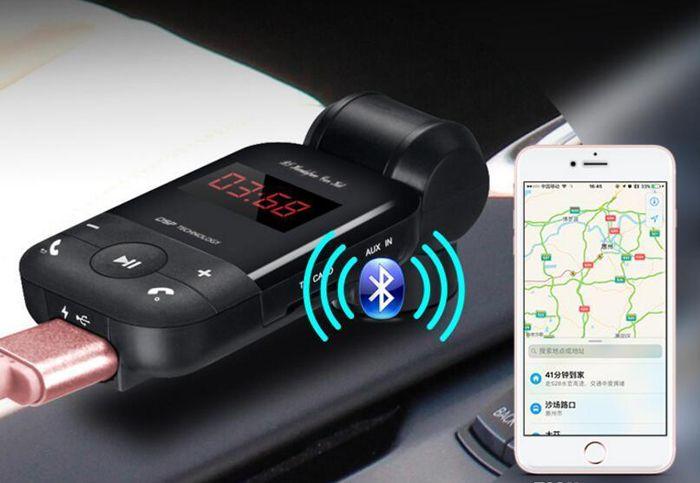 2017 bt26 araba bluetooth handfree araç kiti mp3 kablosuz fm verici çakmak şarj için iphone 7 samsung android bc06 yükseltilmiş