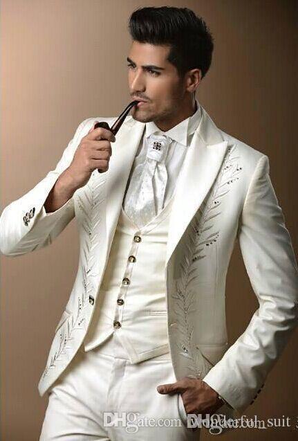 Custom made trois pièces marié smokings réels costumes de mariage de l'image pour les hommes marié marié garçons d'honneur smokings costumes de mariage pour hommes