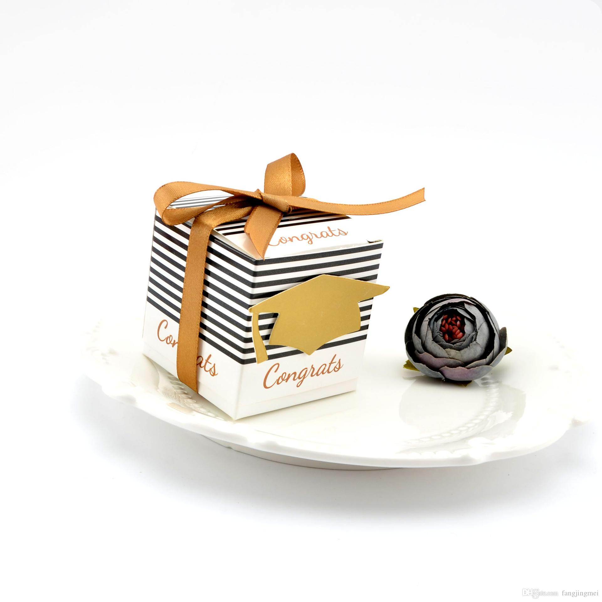 Creative European Square Black And White Stripes Paper Folding Box ...