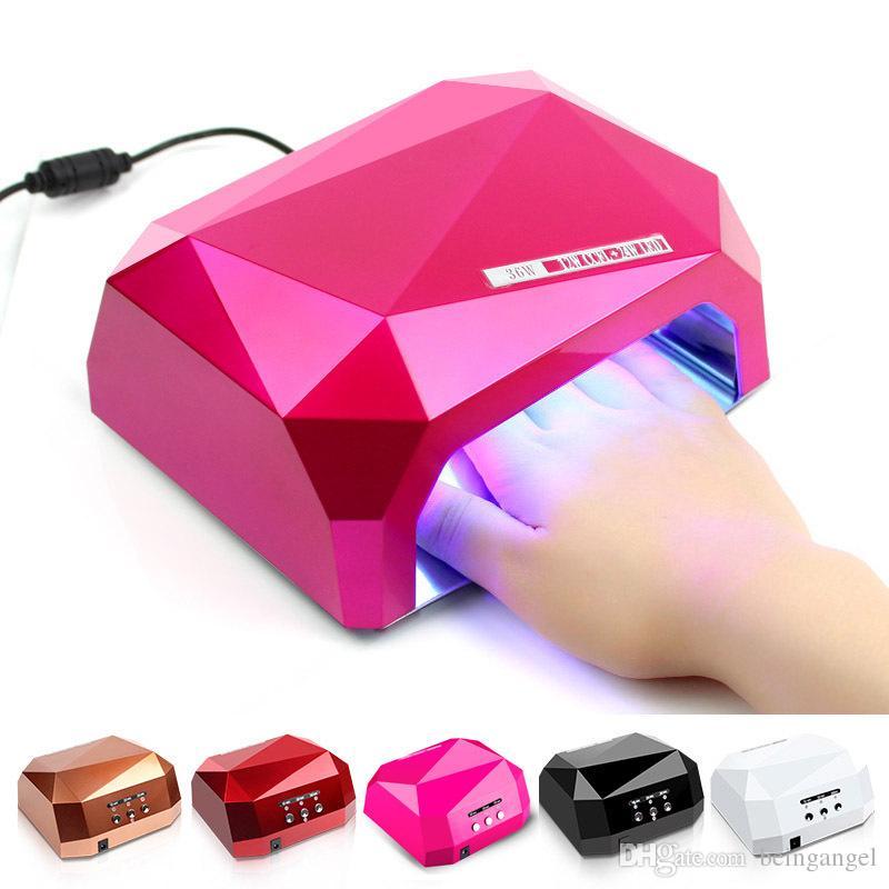 36W Nail Dryer Diamond Shaped LED UV Lamp 36W Nail LED CCFL Лечение для УФ-геля Польский маникюрный инструмент