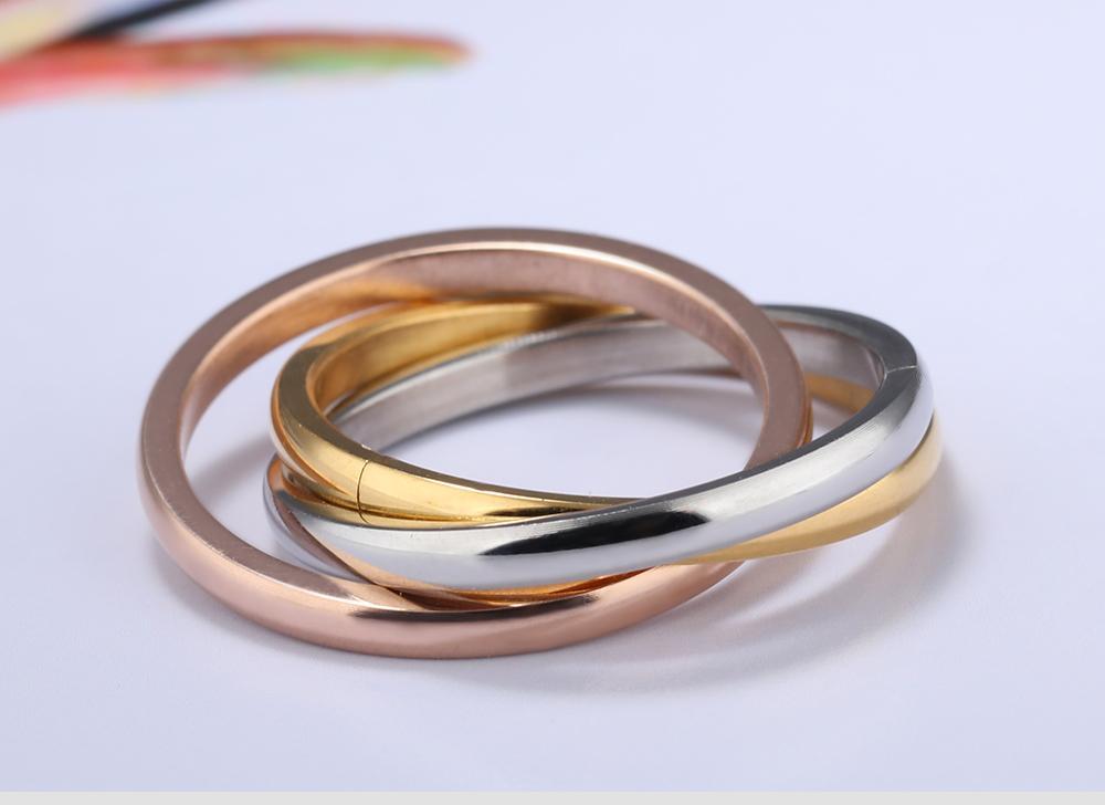 2017 Новое поступление высокое качество нержавеющей стали 316L три цвета навсегда Любовь кольцо для мужчин и женщин
