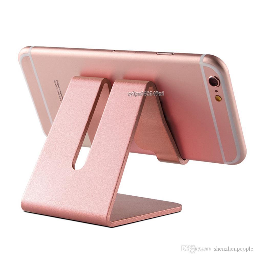 Titulaire de la tablette de tablette de téléphone portable universel d'aluminium en aluminium pour iPhone XR XS MAX X 8 7 Plus Samsung S9 S8 Plus ZTE LG Huawei Retailbox