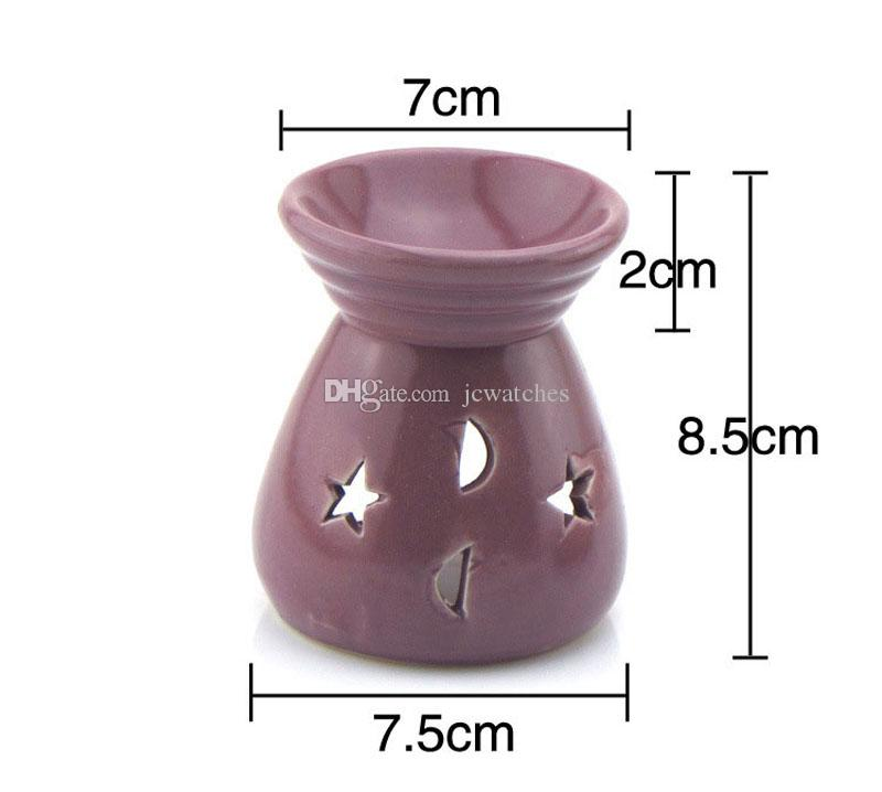 Ceramic Fragrance Oil Burners Lavender Aromatherapy Scent Candle Essential Gift Olio In ceramica Candle Lamps