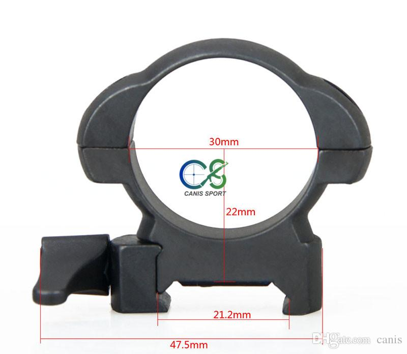 New Arrival Accessory Black Color Scope Mount QD 30mm For Scope Use Center Height 22mm CL24-0163