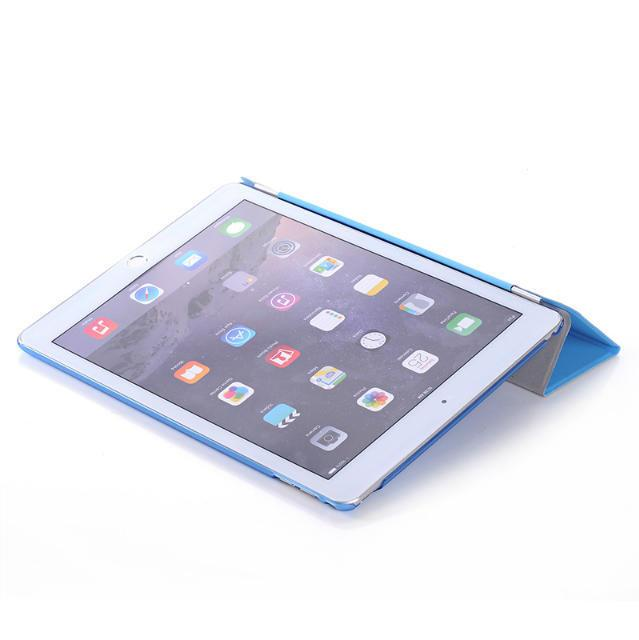 Ultra Thin Back Cover For iPad 2 3 4 mini3 mini4 Smart Magnetic Foilo cover for ipad air2 Flip stand Hard Clear Crystal Back case
