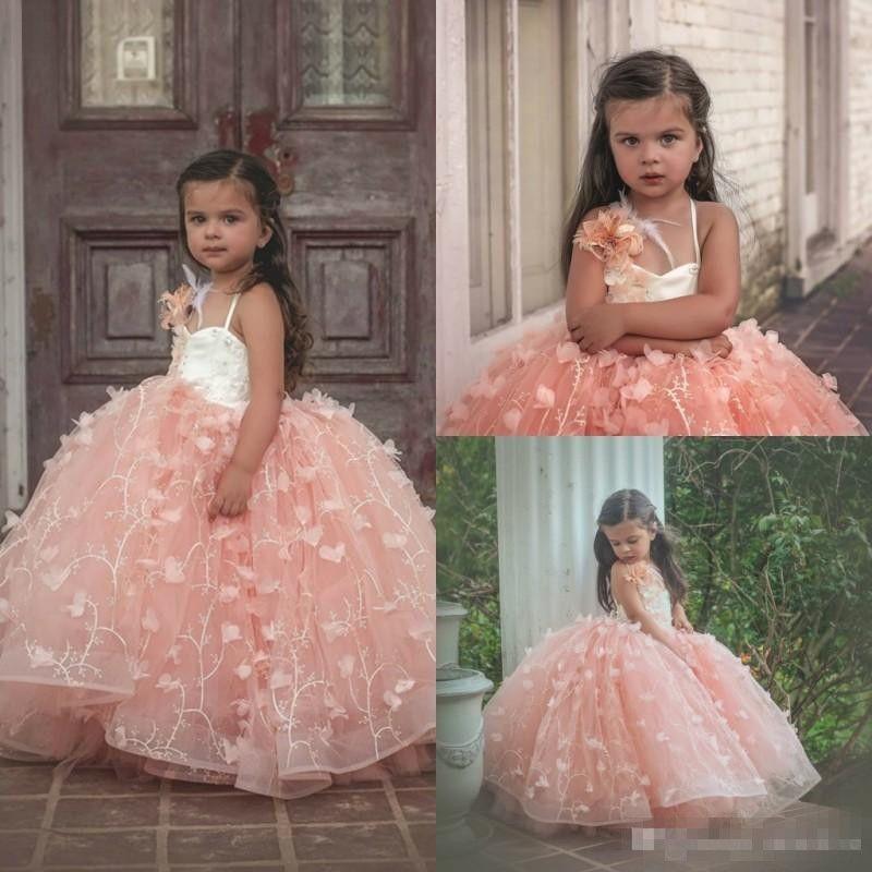 Boho Blush Pink Wedding Dresses 2017 Pretty 3d Flower Lace