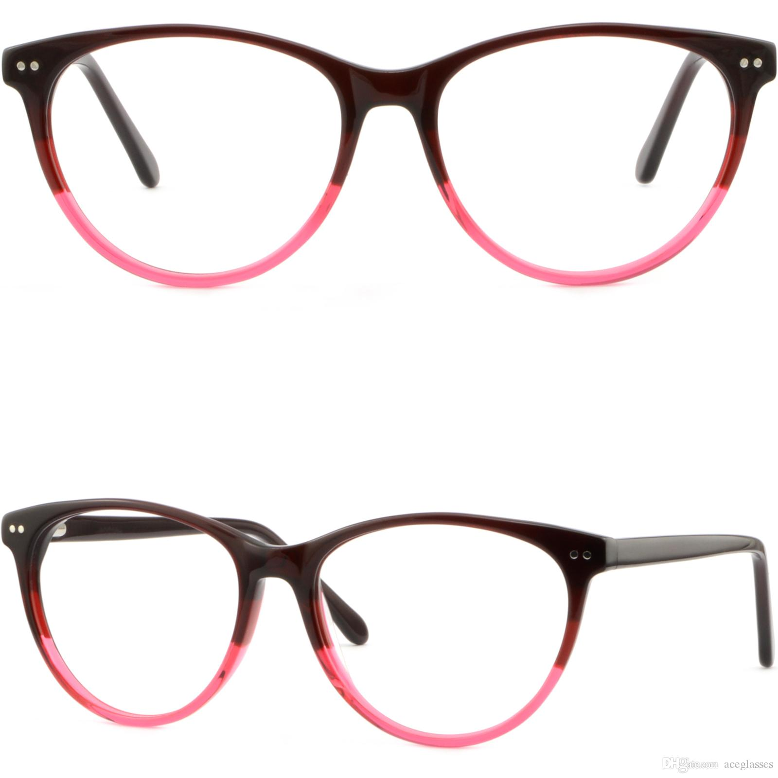 ffe565e6b02 Thin Light Plastic Frame Spring Hinges Women s Glasses Shiny Silver ...