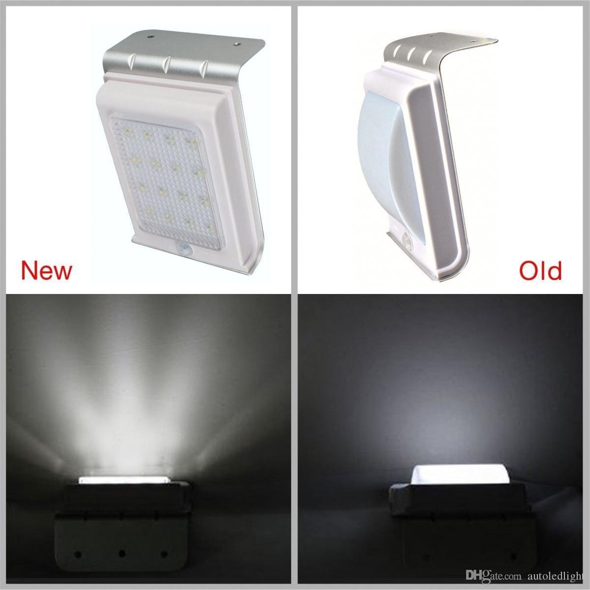 outdoor solar wall lamps 16 LED Solar Power Motion Sensor Garden Security Lamp Outdoor Waterproof Light