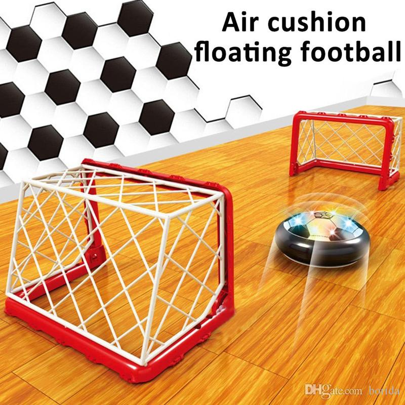 Kids LED Air Power Soccer Football Boys Girls Sport Children Toys Training Football Indoor Outdoor Disk Hover Ball Game with Foam Bumpers
