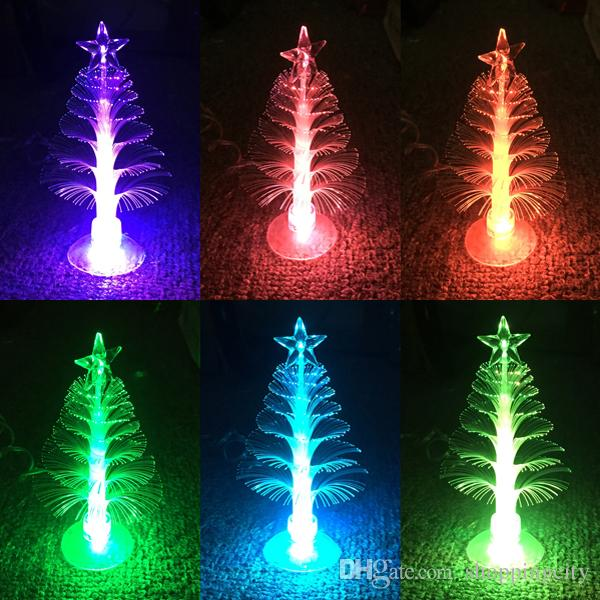2017 led fiber optic christmas tree multi color light usb powered romantic lamp color changing light lamp night lights cupula from shoppingcity - Christmas Tree Night Light