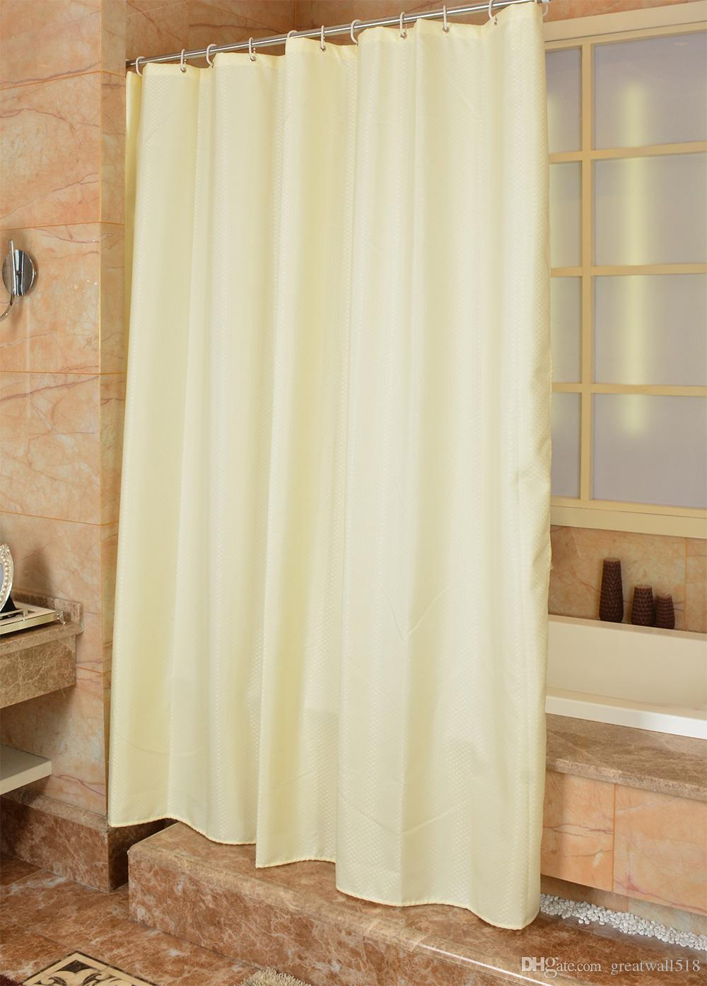 Waterproof Shower Curtain 100% Polyester mildew thick Bathroom Curtains lattice solid color Pattern with Hooks Free print wholesale LJ028