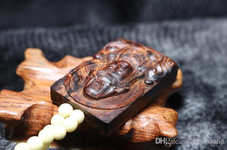 خشبي محظوظ تميمة تعويذة بوذا قوانيين بوديساتفا حقيقية الطبيعية القديمة الأرجواني الكمثرى الزيتية هاينان الصينية huanghuali قلادة قلادة