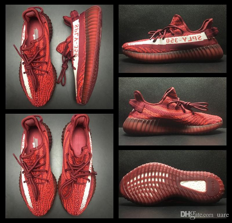 2017 Adidas Yeezy 350 Boost V2 Red Zebra White lance Sports Chaussures de course Sneakers Sply Yeezy Boost 350 V2 Chaussures Kanye West Yeezyz Yezzy