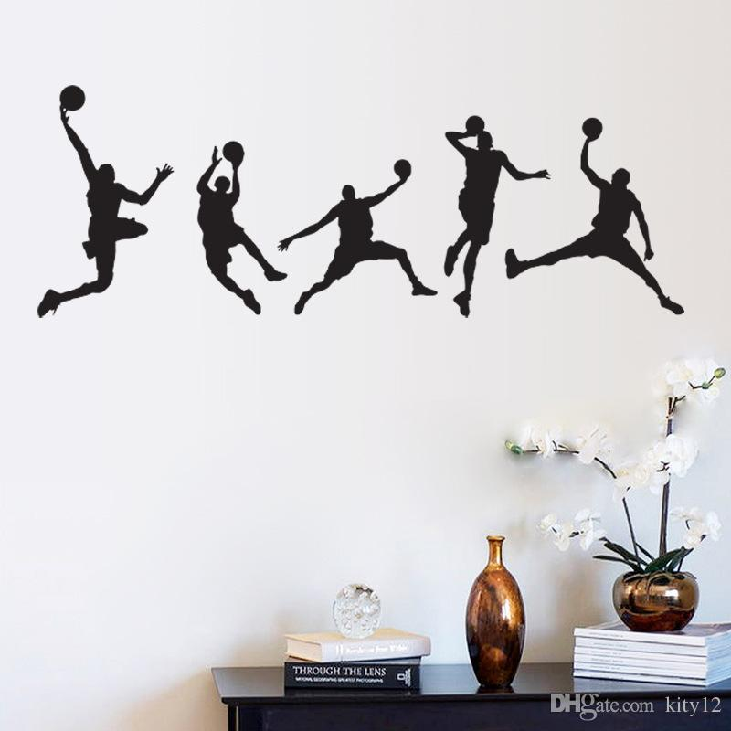 Hot Sale Basketball Men Boys Wall Stickers Sports Wallpaper Wall Decals Art  Kids Room Home Decorations Wall Decals On Sale Wall Decals Quotes From  Kity12, ... Part 39