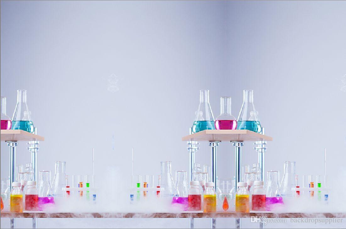 2019 7x5ft Science Lab Laboratory Test Tubes Custom Photo