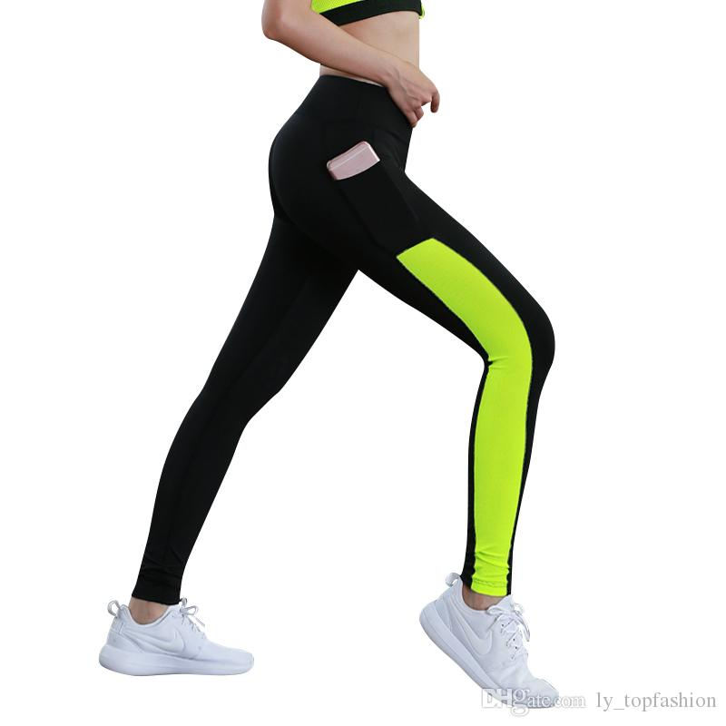 448cc8ba9e5 2017 Women Yoga Pant With Pocket Reflector Quick Dry Sports Pants For Women  Breathable Fitness Tights Splicing Sport Leggings Fitness Leggings Leggings  ...