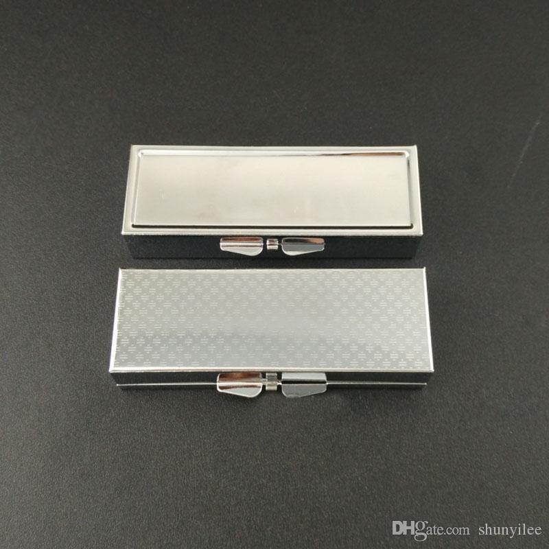Metal Rectangle Silver Tablet Pill Boxes Holder Advantageous Container Medicine Case Small Case 3 Cell Box ZA2137