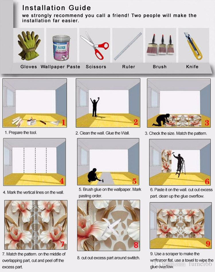 Пользовательские фото обои фрески 3D тиснением роза гостиная телевизор фон роспись стен нетканые обои Murales де Pared 3D