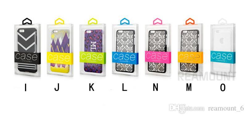 Paquete de empaquetado cristalino del PVC de Caja de encargo del embalaje cristalino para la caja del teléfono celular para Samsung iPhone 6 con la etiqueta engomada