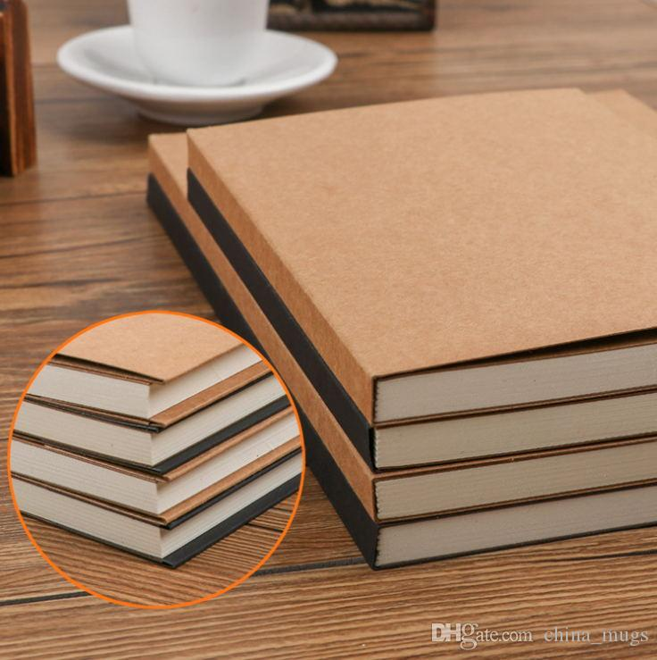 112 page thickening graffiti pocket book / hand copy / blank notepad / sketch book, leather cover free delivery