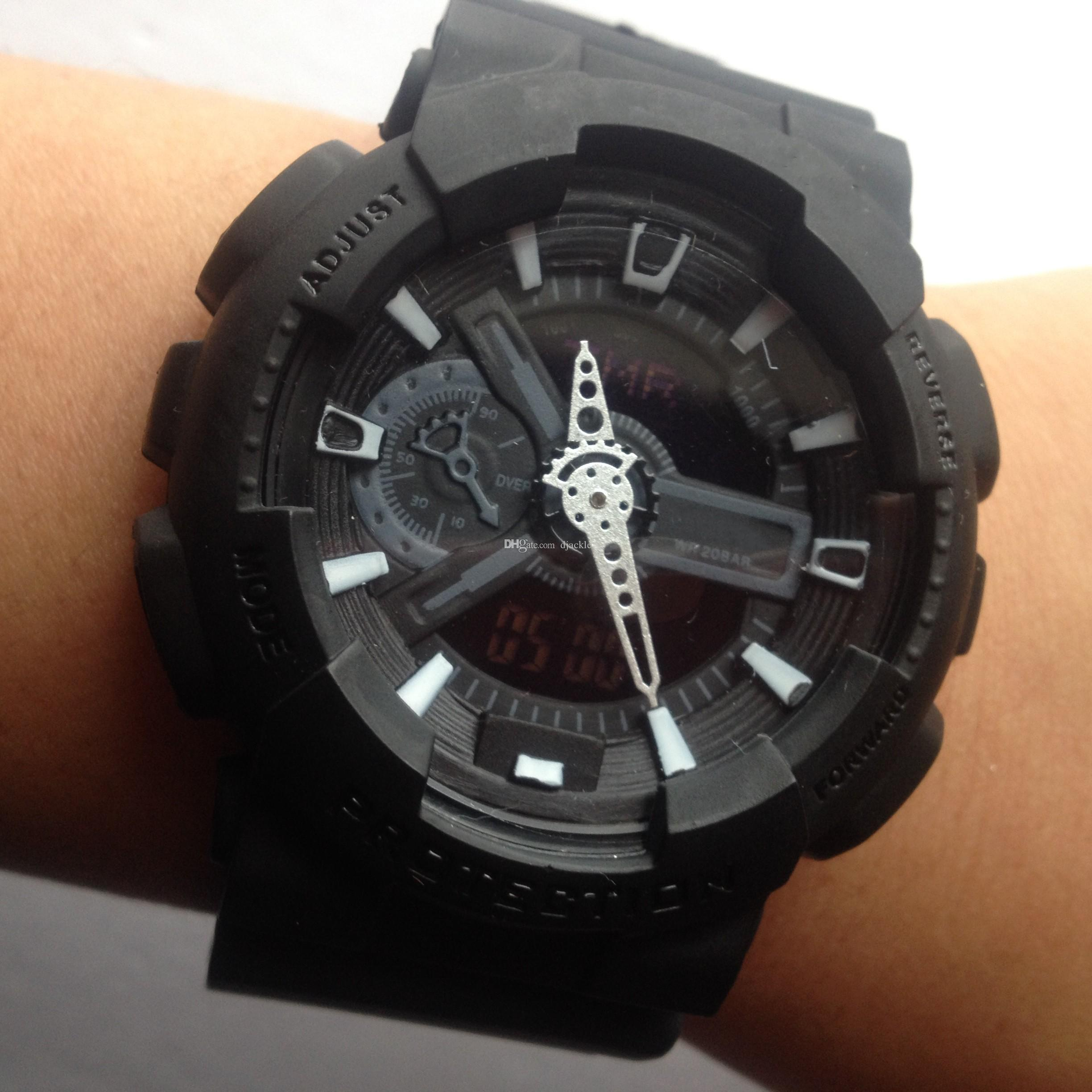 watchmatte black color g110 sports watches led chronograph wristwatch military watch digital watches good gift for women men boy buy a watch online watch