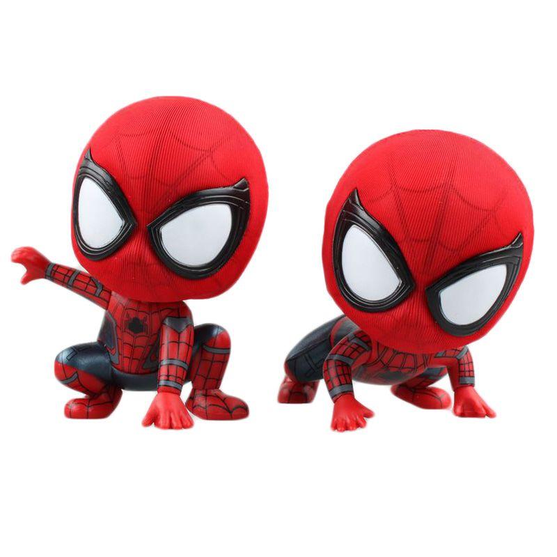 2019 Anime Cartoon Marvel Spider Man Mini Pvc Figure Collectible Toy