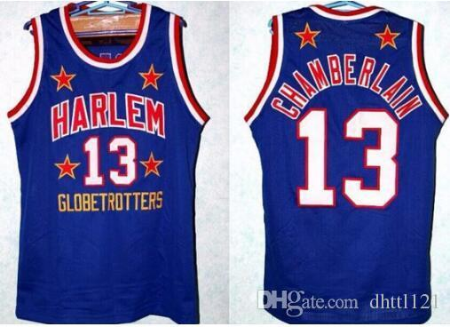 ba1162045 ... Retro Throwback 13 WILT CHAMBERLAIN JERSEY NEW BLACK BLUE ANY SIZE S -  4XL Embroidered Jersey ...