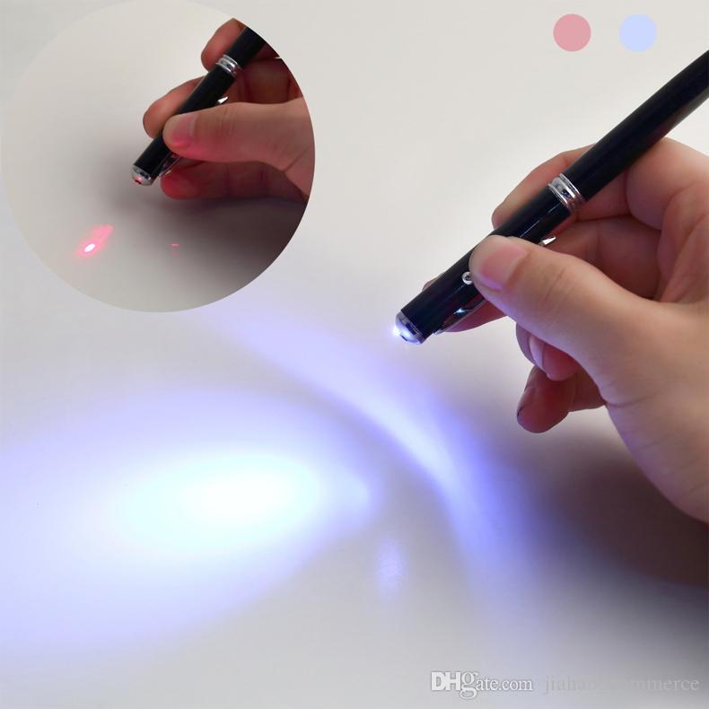 4 في 1 الشاشة مؤشر ليزر LED الشعلة ستايلس الكرة القلم لمدينة ذكية قطرة الشحن بالجملة