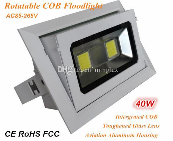 Ac110v/220v Intergrated Cob Flood Light 40w Indoor Flood Lamp 100lm ...