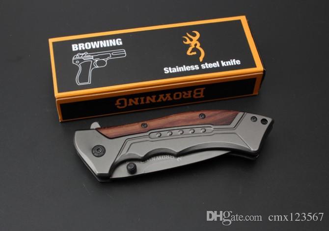 Ücretsiz kargo Browning FA-24 hızlı açılış katlama bıçak 5 cr15mov blade işleme Açık kamp survival hızlı açılış profesyonel için