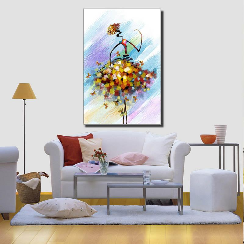 wall portraits living rooms. 2018 Abstract Spray Painting Canvas Colorful Girl Dancing Living Room Wall  Art Decoration Modern Prints Artwork From Artpainting19