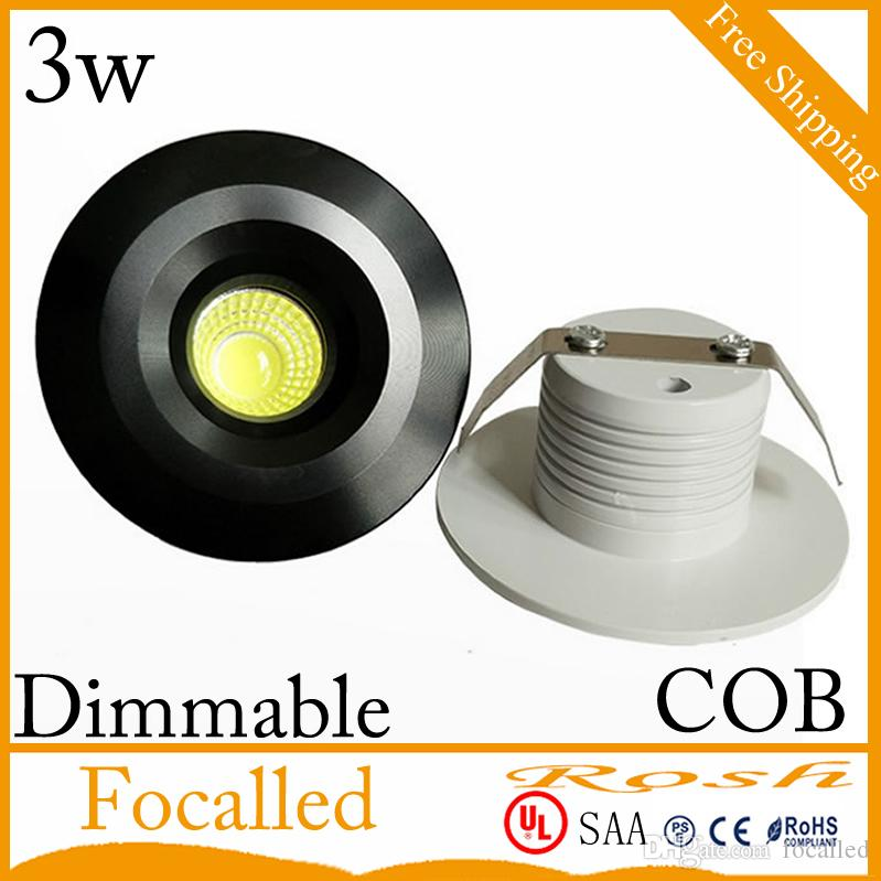 High Quality COB led recessed ceiling light 3w led Downlight Fixture Lights Lamp 300lm AC110v 220v Nature White 4000K +led driver