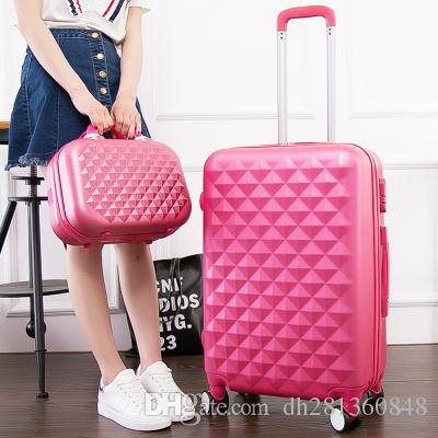 202428inch Diamond Design Luggage Set, Women'S Lightweight ...