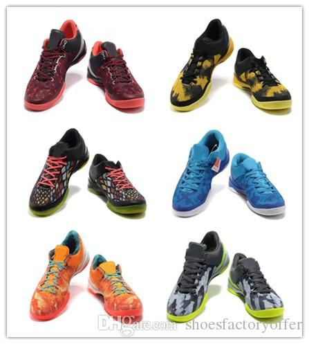 save off d04fa 6751a 2019 Kobe 8 Mens Basketball Shoes For Sale High Quality Mens Yellow Blue  Black Red Grey KB 8 Sports Sneakers Size 7 12 With Box From  Shoesfactoryoffer, ...
