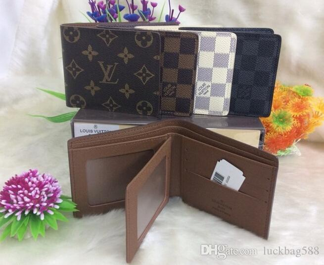 87a5d4830436 2019 Brand New LV Men S Women S Leather Wallets Louis Card Holders Purses  With Box MK Wallet Purse Bags Handbags Bag From Luckbag588