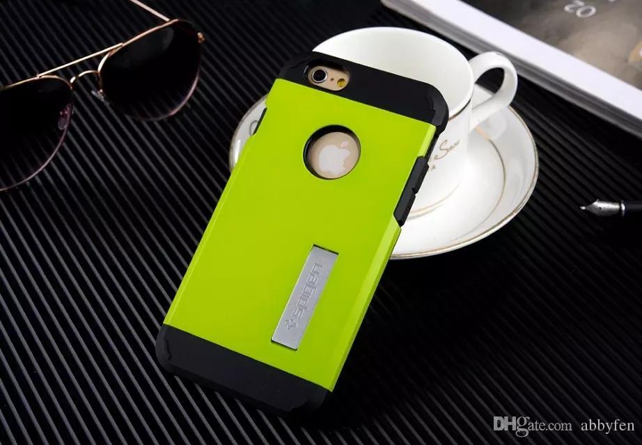 Para iphone7 7 plus 6 6SPLUS 5S 5C 4S Stand Armor Defender Caso PC TPU Capa Protetora Shell Híbrido para VERGE Dual Layered Anti-Choque