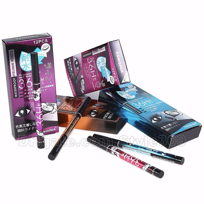 새로운 스타일 YANQINA 36H 메이크업 아이 라이너 연필 방수 4 색 아이 라이너 펜 아니 블룸 정밀 액체 아이 라이너 /