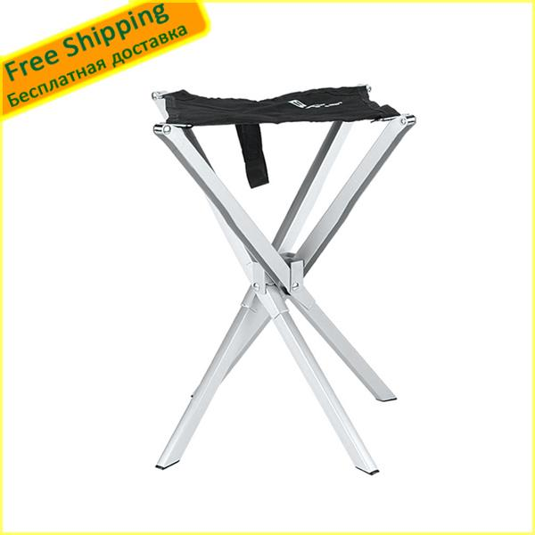 Wholesale- 1 PCS Camping fishing chair small seat Beach chairs Outdoor aluminum alloy Ultralight Portable Folding stool Free shipping