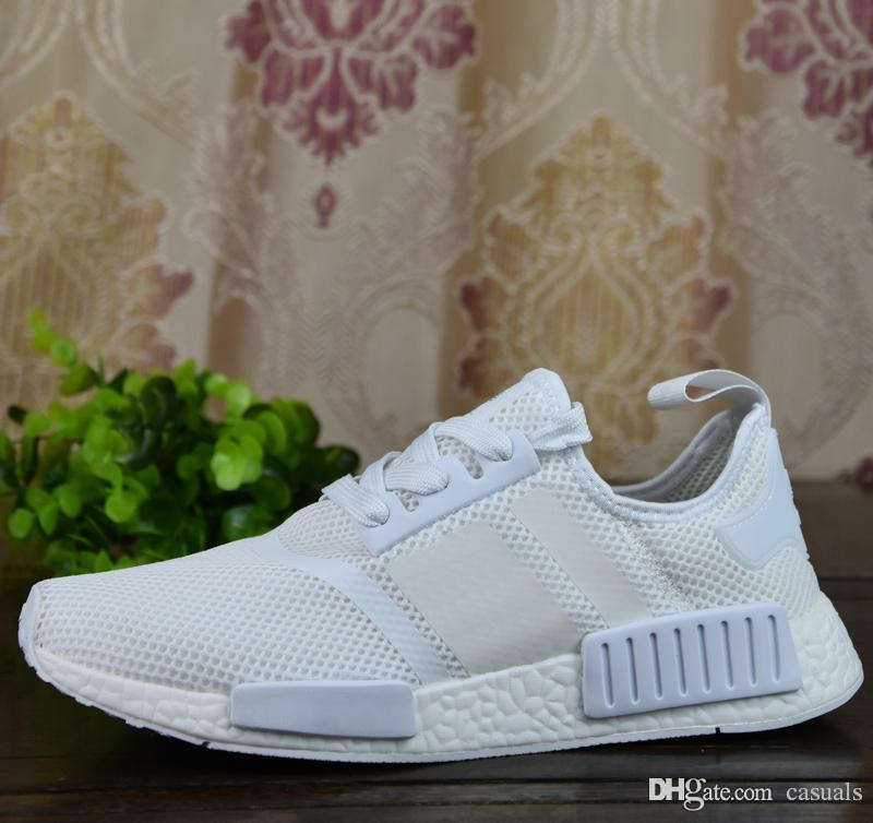Cheap Adidas NMD R1 PK PrimeKnit French Beige Vapour Grey On Foot