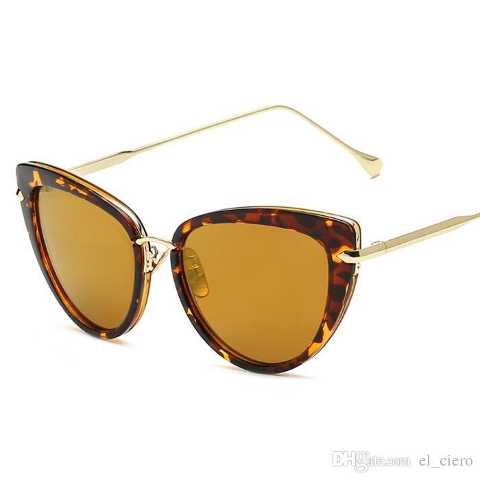 b52b02062 EL CIERO Classic Retro Cat Eye Sunglasses For Women & Men Vintage ...