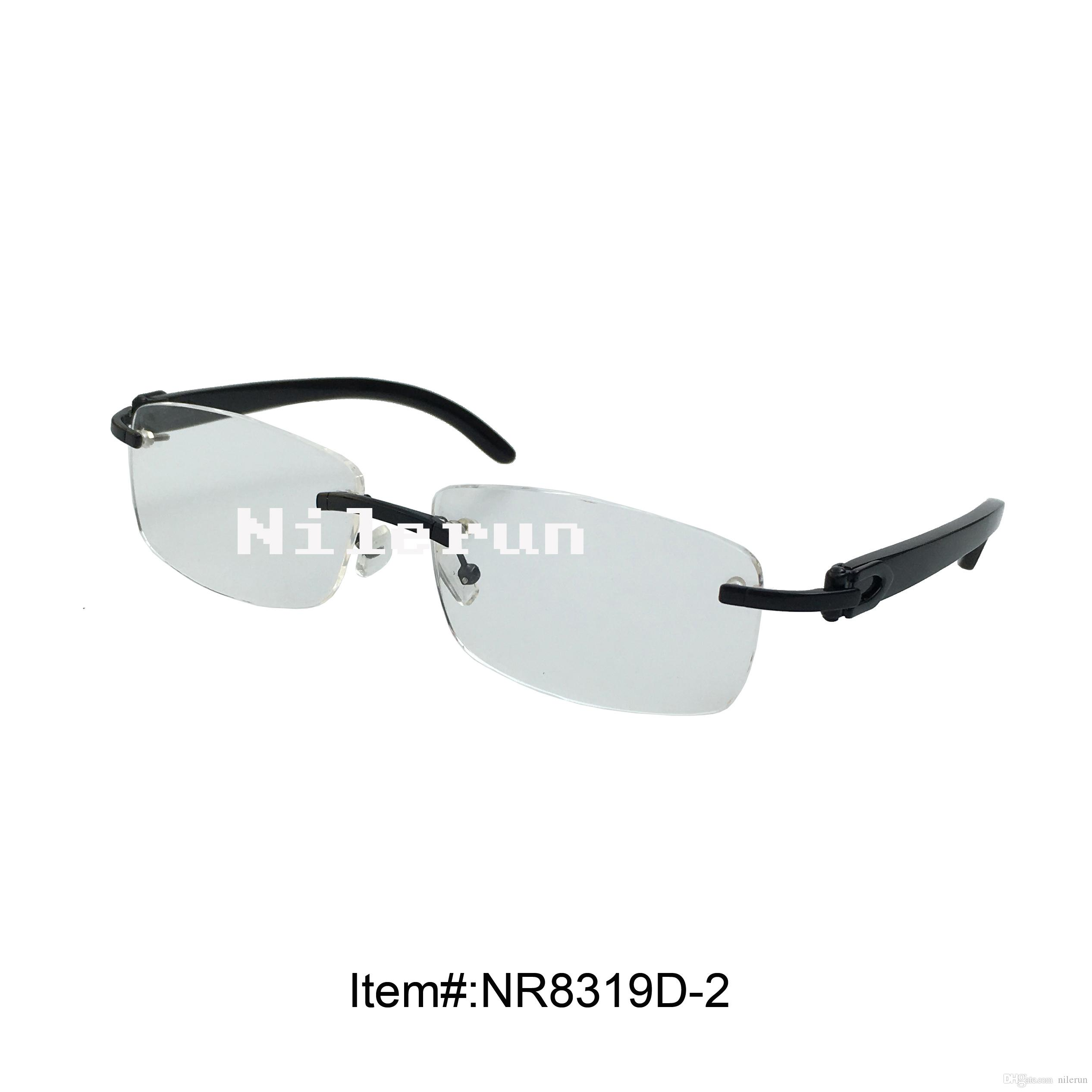 b49b5c5a06ec Hot Sale Rimless Optical Reading Glasses with Buffalo Horn Temples Hot Selling  Glasses Rimless Eyeglasses Rimless Reading Glasses Online with  57.95 Piece  ...