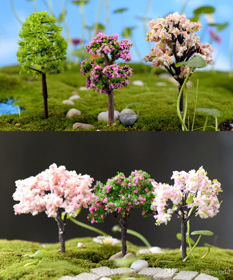 2018 artificial trees doll house tools sand model miniatures fairy garden terrarium bottle mini plants home table decor bonsai from cakeworld - Fairy Garden Terrarium