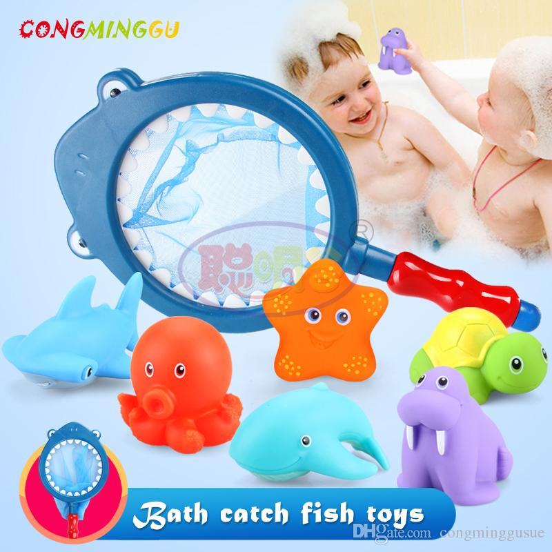 Best Congminggu Baby Bath Toy Summer Water Marine Animal Squirter ...