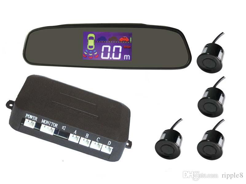 PZ314 LCD Parkplatz Sensor Alarm BIBI Auto Crescent Beeper Umkehr Radar Vier Sonden Ziffer LCD Digitalanzeige Freies EUB